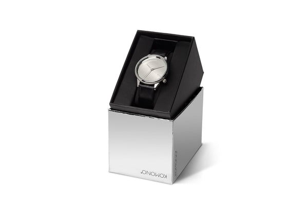 Komono - Estelle Mirror Silver/Black Watch