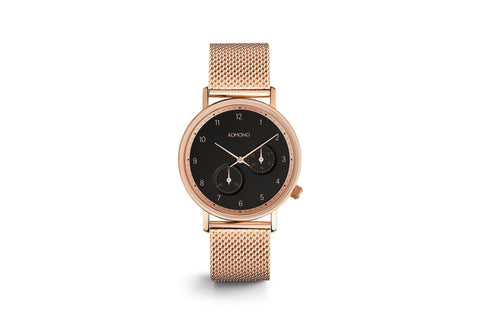 Komono The Walther Rose Gold Mesh Watch
