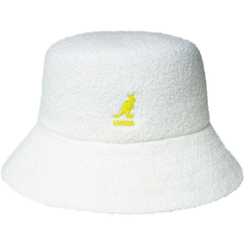 Kangol - White Yellow Bermuda Lahinch Cap