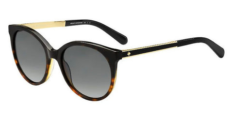 Kate Spade - Amaya S Black Havana Sunglasses / Gray Polarized Lenses