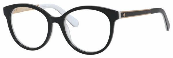 Kate Spade - Caylen 50mm Black White Eyeglasses / Demo Lenses