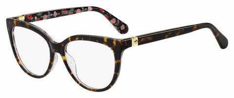 Kate Spade - Cherette 54mm Brown Floral Red Pattern Eyeglasses / Demo Lenses