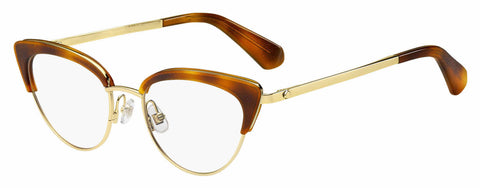 Kate Spade - Jailyn 50mm Yellow Red Havana Eyeglasses / Demo Lenses
