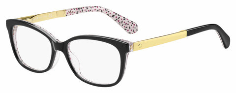 Kate Spade - Jodiann 54mm Black Pattern Red Eyeglasses / Demo Lenses