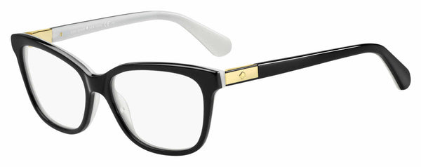 Kate Spade - Jorja 51mm Black Ivory Eyeglasses / Demo Lenses