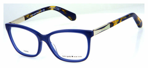 Kate Spade - Kariann 54mm Blue Gold Eyeglasses / Demo Lenses