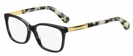 Kate Spade - Kariann 52mm Black Gold Eyeglasses / Demo Lenses