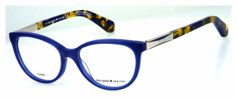 Kate Spade - Kassia 53mm Blue Gold Eyeglasses / Demo Lenses