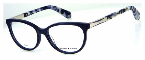 Kate Spade - Kassia 53mm Black Gold Eyeglasses / Demo Lenses