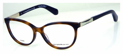 Kate Spade - Kassia 53mm Dark Havana Gold Eyeglasses / Demo Lenses