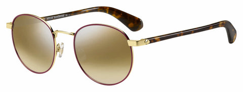 Kate Spade - Adelais S Violet Havana Sunglasses / Brown Mirror Gradient Lenses