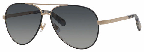 Kate Spade - Amarissa S Black Gold Sunglasses / Dark Gray Gradient Lenses