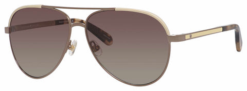Kate Spade - Amarissa S Beige Brown Sunglasses / Brown Gradient Polarized Lenses