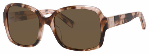 Kate Spade - Annora P S Pink Havana Sunglasses / Brown Polarized Lenses