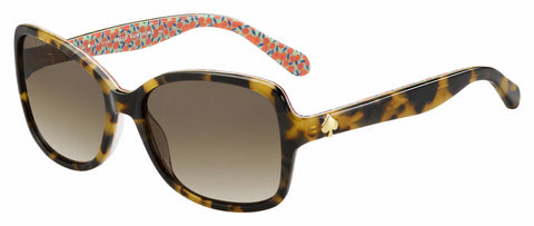 Kate Spade - Ayleen P S Havana Pattern Green Sunglasses / Brown Gradient Lenses