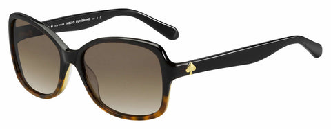 Kate Spade - Ayleen P S Black Havana Sunglasses / Brown Gradient Polarized Lenses