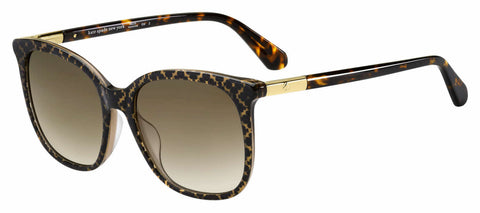 Kate Spade - Caylin S 54mm Crystal Sunglasses / Brown Gradient Lenses