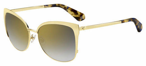 Kate Spade - Genice S Gold Havana Sunglasses / Gray Gold Lenses