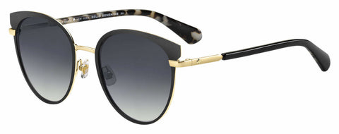 Kate Spade - Janalee S Black Sunglasses / Dark Gray Gradient Lenses
