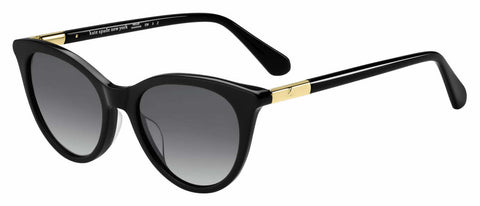 Kate Spade - Janalynn S Black Sunglasses / Gray Polarized Lenses