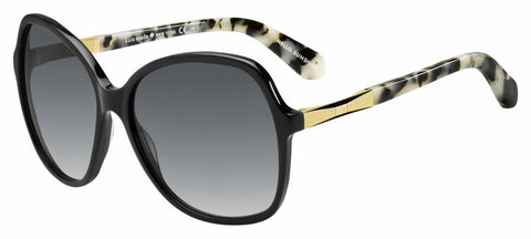 Kate Spade - Jolyn S Black Gold Sunglasses / Gray Gradient Lenses