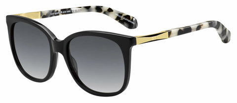 Kate Spade - Julieanna S Black Gold Sunglasses / Gray Gradient Lenses