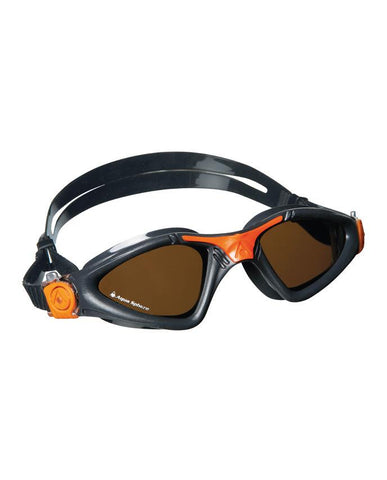 Aqua Sphere Kayenne Jr Trans Blue / Orange Swim Goggles, Smoke Lenses