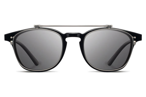 Shwood - Kennedy Flip Acetate Black / Grey Polarized Sunglasses