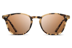 Shwood - Kennedy Acetate Matte Havana / Brown Polarized Sunglasses