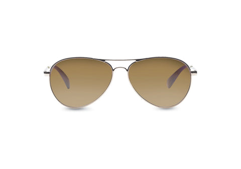 TOMS - Kilgore Gold Polarized Sunglasses / Solid Brown Lenses
