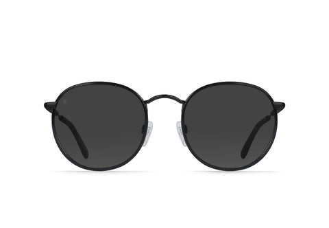 Raen - Mason Matte Black Matte Ripple Sunglasses / Smoke Lenses