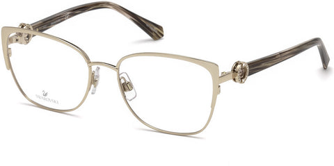 Swarovski - SK5256 Shiny Rose Gold Eyeglasses / Demo Lenses