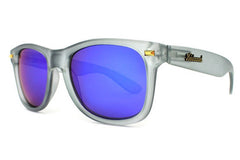Knockaround - Fort Knocks Frosted Grey Sunglasses, Moonshine Lenses