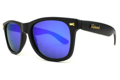 Knockaround - Fort Knocks Matte Black Sunglasses, Moonshine Lenses