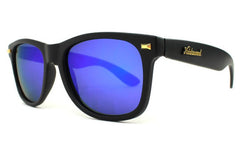 Knockaround - Fort Knocks Matte Black Sunglasses, Moonshine Polarized Lenses