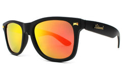 Knockaround - Fort Knocks Matte Black Sunglasses, Sunset Polarized Lenses