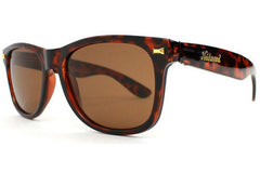 Knockaround - Fort Knocks Tortoise Shell Sunglasses, Amber Polarized Lenses