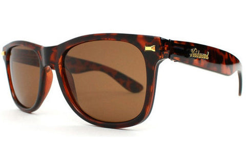 Knockaround - Fort Knocks Tortoise Shell Sunglasses, Amber Lenses