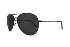 Knockaround - Mile Highs Black Sunglasses, Smoke Polarized Lenses