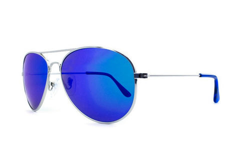 Knockaround - Mile Highs Silver Sunglasses, Moonshine Polarized Lenses