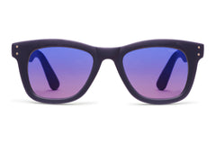 Komono - Allen Midnight Blue Rubber Sunglasses, Blue Lenses