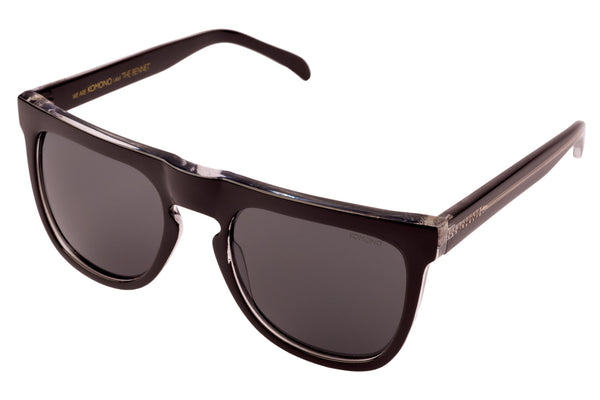 Komono - Bennet Black Transparant Sunglasses