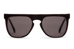 Komono - Bennet Black Transparant Sunglasses, Brown Lenses