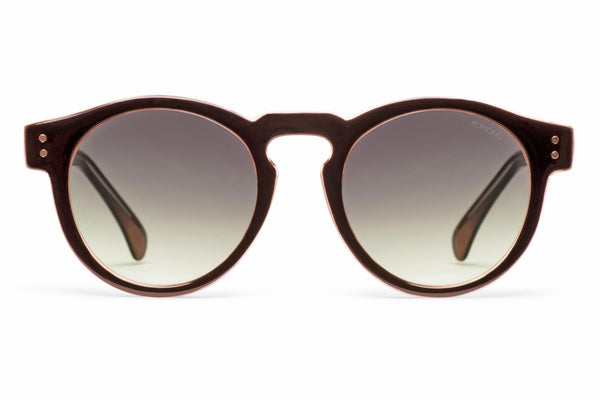 Komono - Clement Black Apricot Sunglasses, Black Lenses