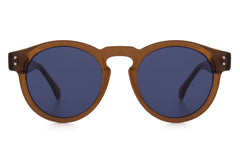 Komono - Clement Cocoa Sunglasses, Blue Lenses