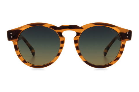 Komono - Clement Lined Tortoise Sunglasses, Green Lenses