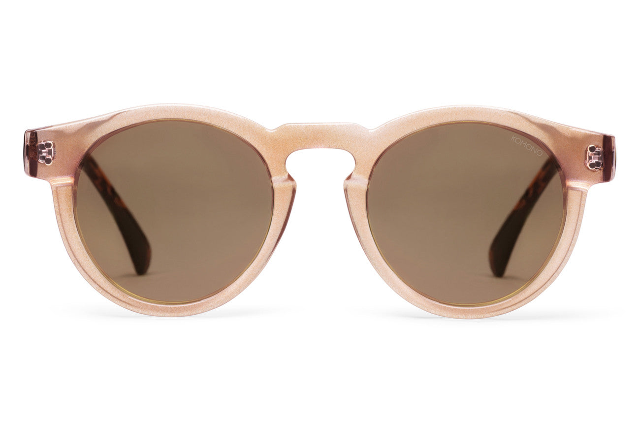 Komono - Clement Pearl/Tortoise Sunglasses, Gold Lenses