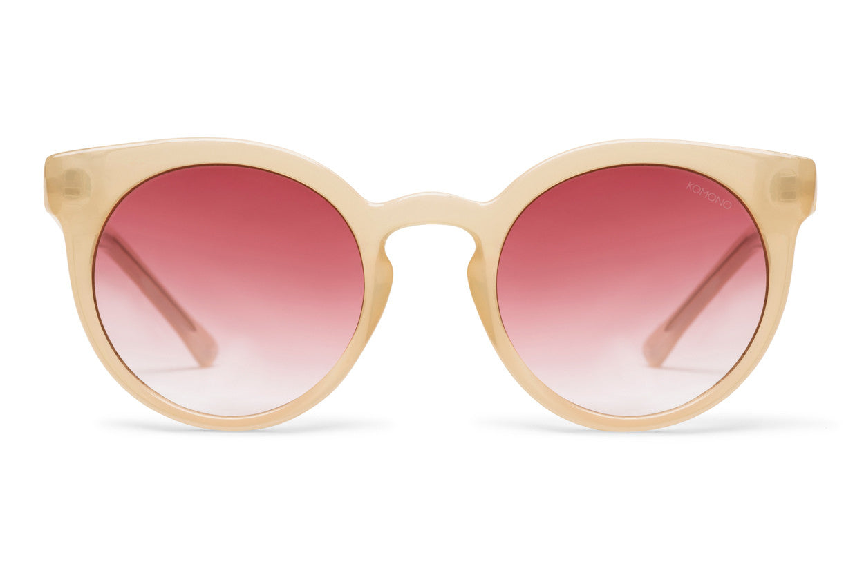 Komono - Lulu Pale Blush Sunglasses, Red Lenses