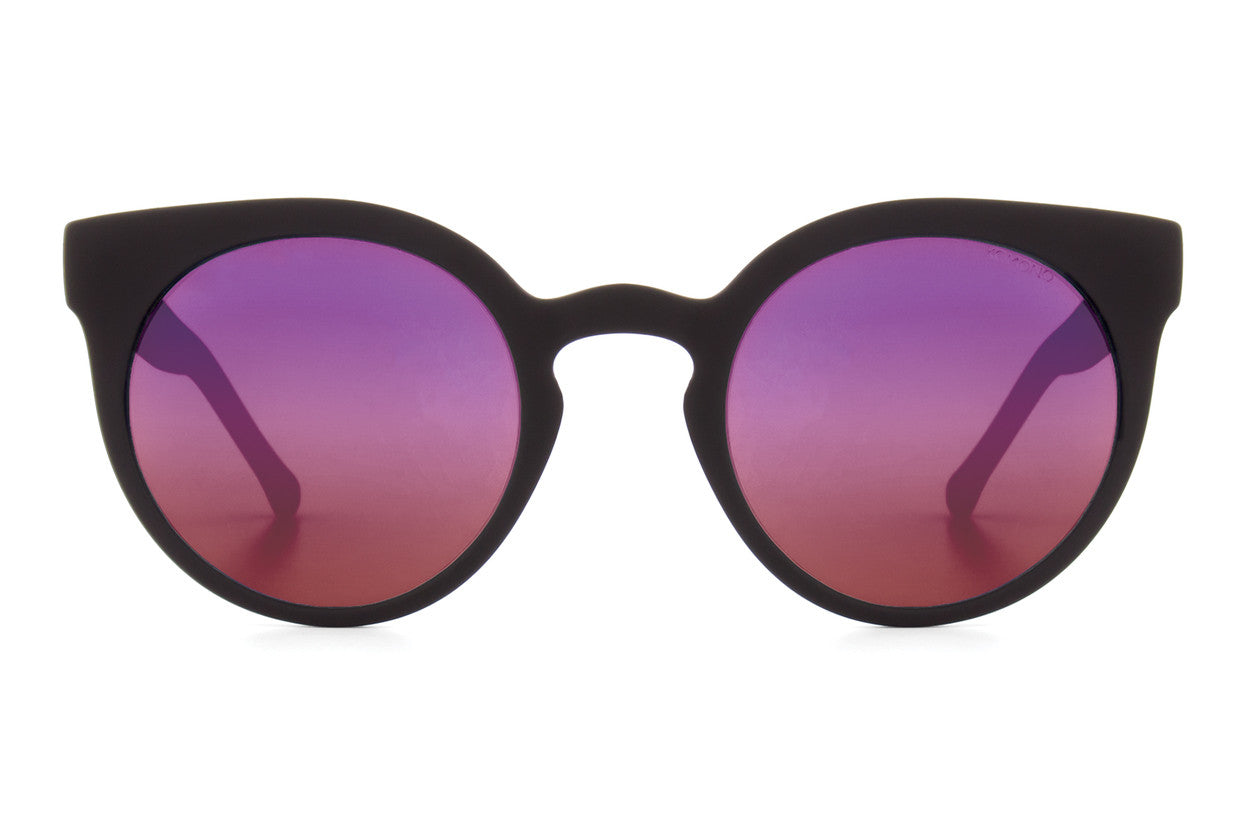 Komono - Lulu Black Rubber Sunglasses