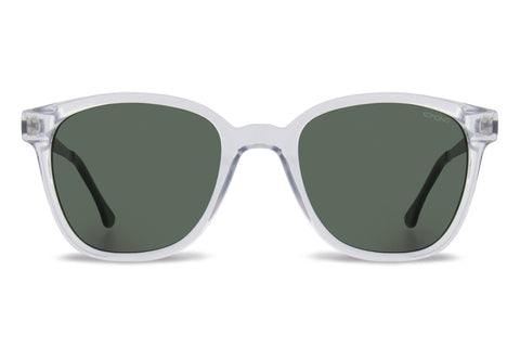 Komono Renee Metal Series Clear Silver Sunglasses